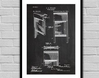 Wash Board Patent Wash Board Poster Wash Board Blueprint Wash Board Print Wash Board Art Laundry Wall Art p332