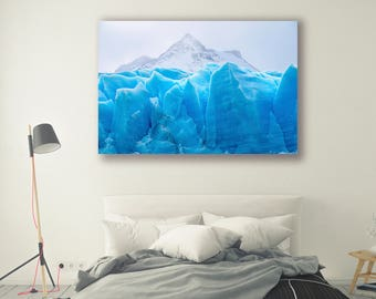 Mountain Photography canvas art framed print Glaciers Icebergs Nature Landscape Nature Photography Arctic Home Decor Seasonal Wall PH0176
