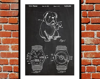Novelty Dog Watch Patent Dog Watch Poster Dog Watch Blueprint  Dog Watch Print Dog Watch Art Dog Watch Decor p222