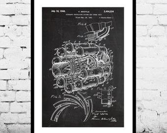Jet Engine Poster Jet Engine Print Jet Engine Patent Jet Engine Art Jet Engine Blueprint Jet Engine Design p393