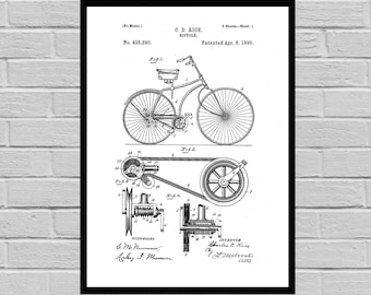 Bicycle Print, Bicycle Poster, Bicycle Patent, Bicycle Decor, Bicycle Art, Bicycle Blueprint, Bicycle Wall Art, Bicycle Gifts p711
