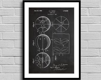 Basketball Patent, Basketball Patent Poster, Basketball Blueprint, Basketball Print, Sports Decor, Basketball Decor, Athlete Gift, p434