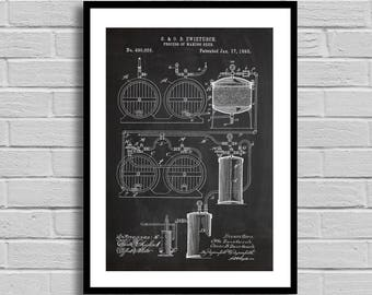 Beer Making Process Patent Beer Making Process Patent Poster Beer Making Process Blueprint Beer Making Process PrintBeer DecorBar p1235