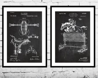 Equestrian Inventions Equestrian Patent Equestrian Art Equestrian Wall Art Horse Saddle Patent Horse Jump Patent Equestrian Art SP494