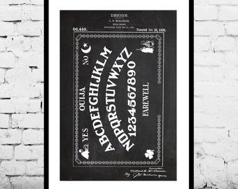 Ouija Board Patent, Ouija Board Poster, Ouija Board Blueprint,  Ouija Board Print, Ouija Board Art, Ouija Board Decor p224