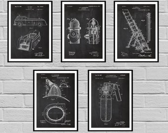 Firefighter Patents prints Firefighter Poster Firefighter Art Firefighter Decor Firefighter Wall Art Gift Firefighter gift sp511