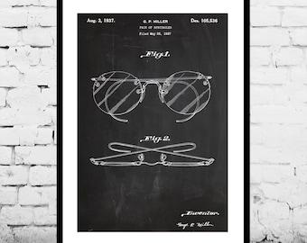 Eyeglasses Patent Eyeglasses Poster Eyeglasses Print Eyeglasses Art Eyeglasses Decor Eyeglasses Blueprint p108