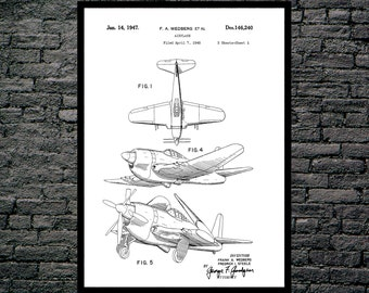 Airplane Print Airplane Poster Airplane Patent Airplane Wall Decor Aviation Poster Aviation Print Aviation Wall Art Aviation Art p362