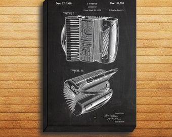 CANVAS  Accordian Patent Accordian Poster Accordian Print Accordian Art Accordian Decor Accordian Blueprint Accordian Instrument p027