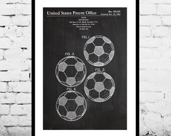Soccer Ball Poster, Soccer Ball Print, Soccer Ball Patent, Soccer Ball Art, Soccer Ball Decor, Soccer Ball Blueprint, Soccer Decor p869