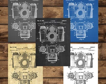 INSTANT DOWNLOAD - Camera Poster,Vintage Camera Patent, Vintage Camera Print, Vintage Camera, Vintage Camera Decor, Vintage Camera Blueprint