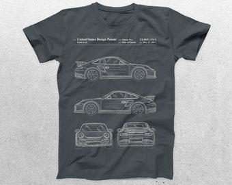 Porsche 911 Patent T-Shirt, Porsche Blueprint, Patent Print T-Shirt, Porsche Shirt, Car Lover Gifts, p918