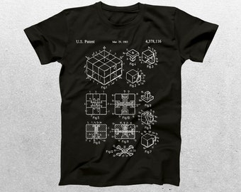Rubiks Cube Patent T-Shirt, Rubiks Cube Blueprint, Patent Print T-Shirt, Slinky Shirt, Vintage Toy, Hipster T-Shirt, Unique Gifts p1206