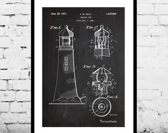 Lighthouse Patent Lighthouse Poster Lighthouse Blueprint  Lighthouse Print Lighthouse Art Lighthouse Decor p193