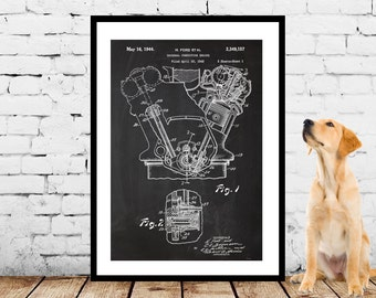 Internal Combustion Engine, Internal Combustion Engine Patent, Internal Combustion Engine Poster, Internal Combustion Engine Art, p1126
