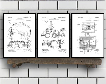 Optometry Prints - Set of 3 - Optometry Patent, Optometry Poster, Optometry Blueprint, Optometry Print, Optometry Art, Optometry SP341
