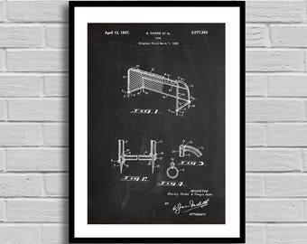 Soccer Goal Patent, Soccer Goal Poster, Soccer Goal Blueprint, Soccer Goal Print, Vintage Soccer Goal, Soccer Decor, Athlete Gift,Coach p872