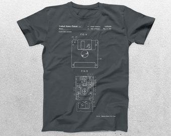 Floppy Disk Patent T-Shirt, Floppy Disk Blueprint, Patent Print T-Shirt, Computer Technology Shirt, Computer Programmer Gift p442