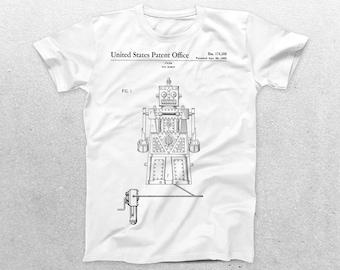 Robot Toy Patent T-Shirt, Robot Toy Blueprint, Patent Print T-Shirt, Robot Toy Shirt, Cool Shirt Gifts p1219