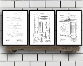 Rowing Related Patent Set of Three, Rowing Oars Invention Patent, Rowing Poster, Rowing Print, Rowing Patent, Rowing Inventions,Rowing SP371