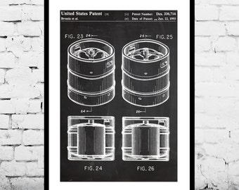 Beer Keg Poster Brewing Beer Patent Brewing Beer Poster Brewing Beer Print Brewing Beer Ale Decor Beer Poster Beer and Ale Decor p1232