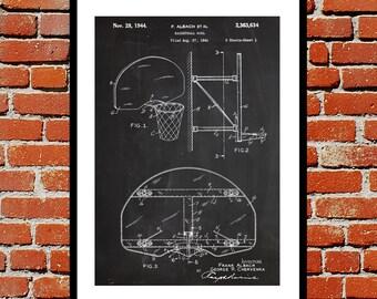 Basketball Hoop Print, Basketball Hoop Poster, Basketball Hoop Patent, Basketball Hoop Decor, Basketball Hoop Art, Vintage Basketball p425