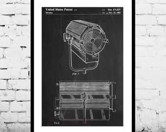 Theatre Spotlight Patent, Theatre Spotlight Poster, Spotlight Print, Spotlight Art, Spotlight Decor, Spotlight Blueprint p297