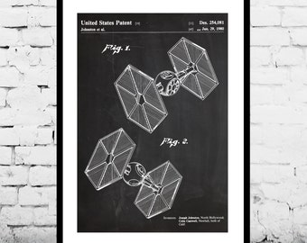 Star Wars Tie Fighter Patent Star Wars Tie Fighter poster Star Wars Tie Fighter Print Star Wars Tie Fighter Art Star Wars p945