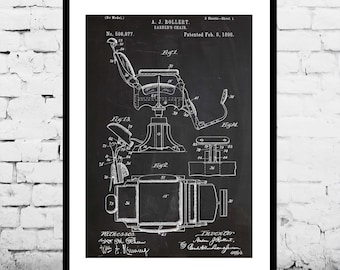 Barber Chair Patent Barber Chair Poster Barber Chair Print Barber Chair Art Barber Chair Decor Barber Chair Blueprint p039