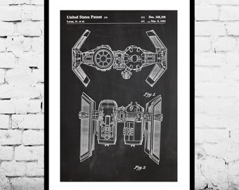 Star Wars  Patent Star Wars Tie Bomber poster Star Wars Tie Bomber Print Star Wars Tie Bomber Art Star Wars p923