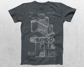 Photographic Camera Patent T-Shirt, Photographic Camera Blueprint, Patent Print T-Shirt, Photographer T-Shirt, Vintage Camera p184