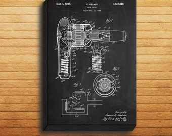 CANVAS  Hair Dryer Patent Hair Dryer Poster Hair Dryer Print Hair Dryer Art Hair Dryer Decor Hair Dryer Blueprint Vintage Beauty p150
