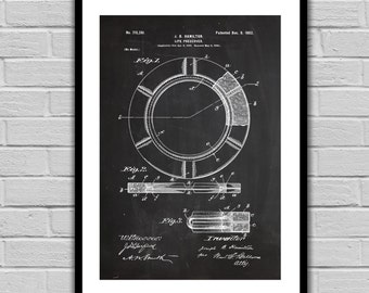 Life Preserving Ring Patent Life Preserver Poster  Life Preserver Print Life Preserver Art Life Preserver Decor Nautical Decor p07