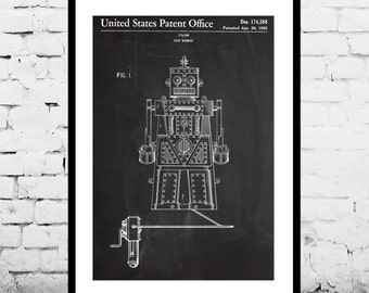 Toy Robot Patent, Toy Robot Poster, Toy Robot Print, Toy Robot Decor, Toy Robot Art, Toy Robot Blueprint, Toy Robot Wall Art p1219