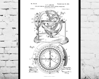 Nautical Compass Patent Nautical Compass Poster Nautical Compass Blueprint Nautical Compass Print Nautical Compass Art p219