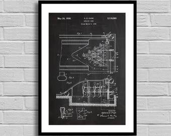 Bowling Game Patent, Bowling Game Patent Poster, Bowling Game Blueprint, Bowling Game Print, Bowling Decor, Vintage, Game Decor, Bowler p726