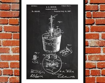 Washing Machine Patent Washing Machine Poster Washing Machine Blueprint  Washing Machine Print Washing Machine Art Laundry p1078