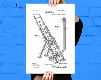 Fire Ladder Patent Fire Ladder Poster Fire Ladder Blueprint  Fire Ladder Print Fire Ladder Art Fire Ladder Decor p561