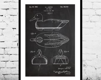 Duck Decoy hunting Patent Duck Decoy hunting Poster Duck Decoy hunting Print Duck Decoy hunting Decor p1263