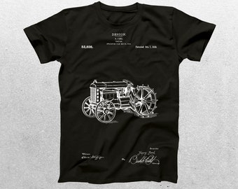 Tractor Patent T-Shirt, Tractor Blueprint, Patent Print T-Shirt, Vintage Tractor T-Shirt, Farmer T-Shirt, Gifts for Farmers p302