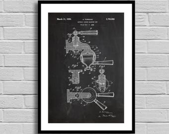 Expresso machine Print Art Patent Coffee Wall Art Poster Patent Print Wall Art Poster decor Espresso Patent art Coffee lover coffee p1003