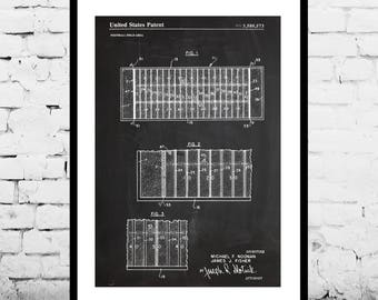 Football Field Patent, Football Field Poster, Football Field Blueprint, Football Field Print, Mancave decor, Gift for him p790