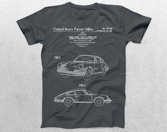 Porsche Patent T-Shirt, Porsche Blueprint, Patent Print T-Shirt, Porsche Shirt, Car Lover Gifts, p1154