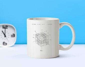 Rubik's Cube patent mug  coffee mug  coffee lover  patent art  patent mug  Retro Toys Toy Collectibles Classic Toys VintageM97