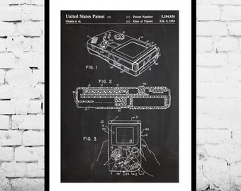 Game Boy Nintendo Poster, Game Boy Nintendo Patent, Game Boy Nintendo Print, Game Boy Nintendo Art, Game Boy Nintendo Decor, Gameboy p1200