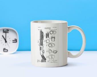 Browning Magazine Firearm patent mug  coffee mug  coffee lover  patent art  patent mug  Gun Gift Gun DecorVintageMilitary GiftM74