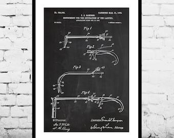 Intubation Instrument Patent Intubation Instrument Poster Intubation Print Larynx Intubator Art Medical Equipment Decor p623