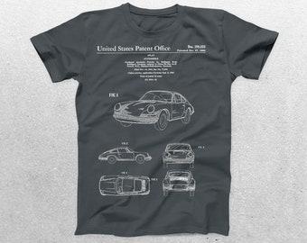 Porsche Patent T-Shirt, Porsche Blueprint, Patent Print T-Shirt, Porsche Shirt, Car Lover Gifts, p1111
