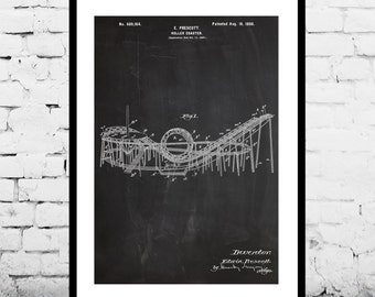 Roller Coaster Patent, Roller Coaster Poster, Roller Coaster Print, Roller Coaster Art, Roller Coaster Decor, Roller Coaster Wall Art p1210