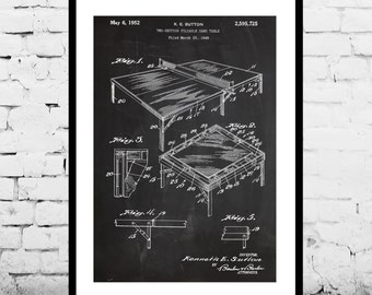 Ping pong table Print, Table Tennis Poster, Table Tennis Table Patent, Table Tennis Paddle Blueprint, Table Tennis Art p232